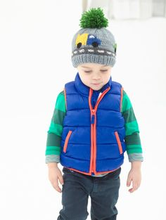 A knit hat for the little one who loves everything on four wheels.