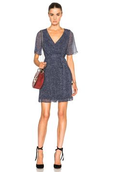 Image 1 of Diane von Furstenberg Katina Dress in Dream Dot Midnight