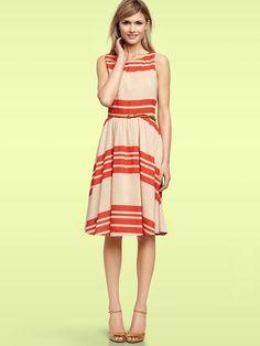 GAP stripe swing dress. So cute!