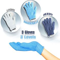 EvridWear Exfoliating Dual Texture Bath Gloves for Shower, Spa, Massage and Body Scrubs, Dead Skin Cell Remover, Gloves with hanging loop Gloves Not 3 pair) Exfoliating Gloves, Spa Massage, Body Scrubs, Dead Skin, How To Remove, Bath, Texture, Shower, Amazon