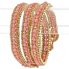 Bead Wrap Bracelets. Love this!! My wrists are too small for normal bracelets so i have to find ones like these! So cute!