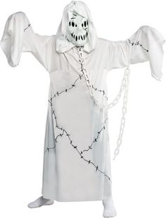Give your child a chance to do some scaring this Halloween when he wears this Kids Ghost Costume. He& love being this spooky spectre! Costume Garçon, Joker Costume, Ghost Costumes, White Costumes, Movie Costumes, Girl Costumes, Costume Ideas, Costumes Kids, Ghosts