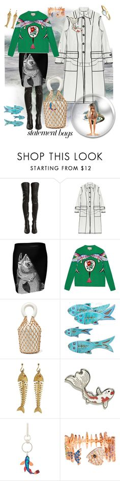 """""""03.02.18"""" by transtetik ❤ liked on Polyvore featuring Yves Saint Laurent, Miu Miu, Gucci, Staud, Tiffany & Co., Paul Smith, Sphera, La Kaiser and statementbags"""