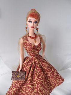 Handmade Barbie Clothes 50s Style Hollywood Glamour Dress Set for Vintage Barbie | eBay