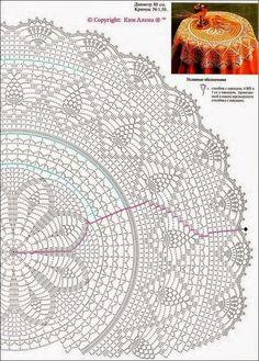 Diagram Crochet Doily Patterns With Crochet Tablecloth Pattern, Crochet Doily Diagram, Crochet Edging Patterns, Filet Crochet, Crochet Motif, Crochet Doilies, Knitting Patterns, Crochet Coaster, Dress Patterns