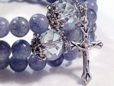 Hey, I found this really awesome Etsy listing at https://www.etsy.com/listing/199568156/rosary-bracelet-blue-aventurine-gemstone