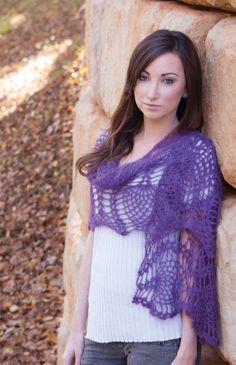 Purple Passion Crochet Wrap