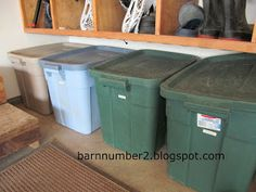 Mudroom Alternative - Garage Recycling too!