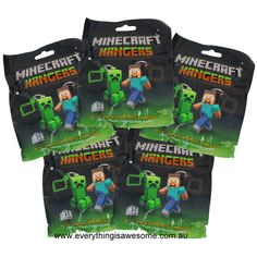 New Set of 10 Minecraft Hanger Keyring Keychain SERIES 1 Steve Creeper - http://www.austree.com.au/ads/clothing-jewellery/accessories-clothing-jewellery-2/set-10-minecraft-hanger-keyring-keychain-series-1-steve-creeper/26324/