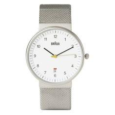 Braun BN-32WHS Men's Stainless Mesh Watch - Canopy