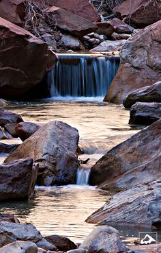 Falls along the Virgin River Zion National Park, Utah