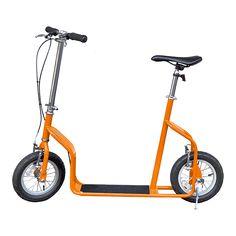 Side view of a orange Zippr™ kick scooter
