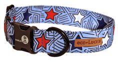 Starpop, eco-Lucks collar from Dublin Dog.