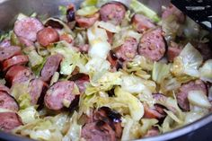my nutritious dish: chicken and apple sausage with cabbage~ whole30 ♥♥♥♥♥ - Oh my goodness was this delicious!!