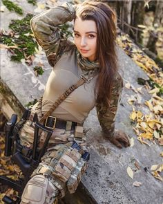 Sexy Girls for You! Airsoft Girls, Female Soldier, Army Soldier, Military Women, Military Female, Idf Women, Military Girl, Warrior Girl, Girls Uniforms