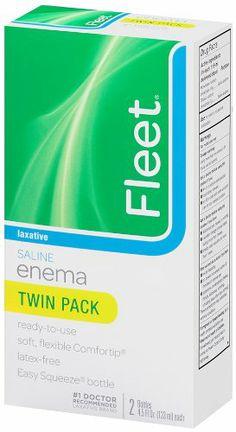 Fleet Saline Enema Twin Pack, Bottles - per Box (Pack of