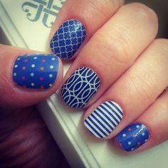 Jamberry Navy Nails | Instagram