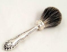 Antique Sterling Silver Handled Shaving Brush - Sheffield 1901