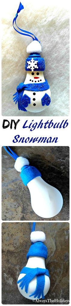 This DIY Light Bulb Snowman is easy to make and will look adorable on your Christmas tree. It is easy to make and is sure to become a family favorite for years to come.