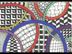 Zentangle Inspired Art - Circles - YouTube