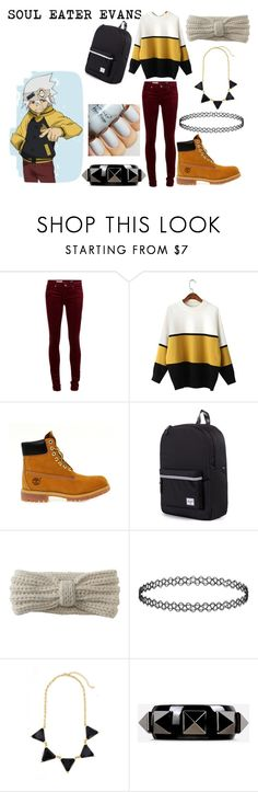"""""""SOUL EATER EVANS"""" by btmorgens ❤ liked on Polyvore featuring AG Adriano Goldschmied, Timberland, Herschel Supply Co., Aéropostale, Valentino, anime, soul and souleater"""