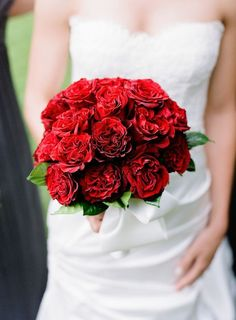 red bouquet.
