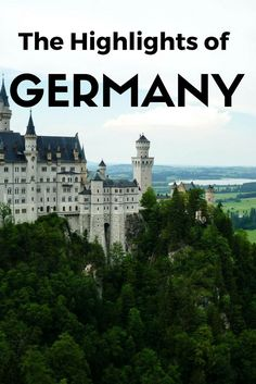 Your Guide to Visiting Germany! These unique places throughout Germany are sites that simply cannot be missed can't and that anyone could enjoy.
