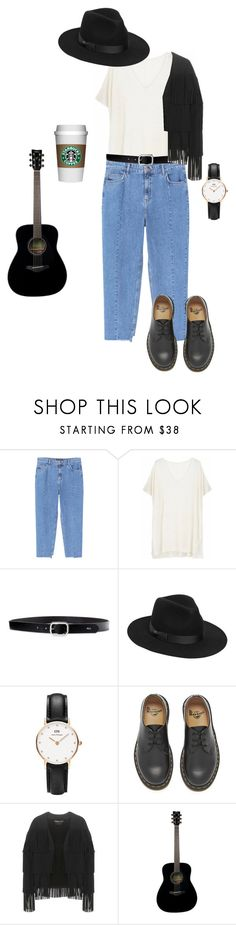 """""""artistic boho chic"""" by enrika-gawlowska on Polyvore featuring Violeta by Mango, Ille De Cocos, Lauren Ralph Lauren, Lack of Color, Daniel Wellington, Dr. Martens, Tom Ford and Yamaha"""