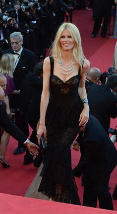 Claudia Schiffer in Chanel Couture, Cannes 2011