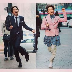 It was really funny😂😂💕 ~Kill Me Heal Me Lee Bo Young, So Ji Sub, Korean Celebrities, Korean Actors, Korean Dramas, Kill Me Heal Me, Hwang Jung Eum, Funny Scenes, Kdrama Actors