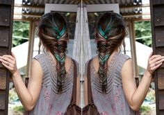 colorful braid, if you don't want to color the strands, just braid in silk ribbons for a similar effect