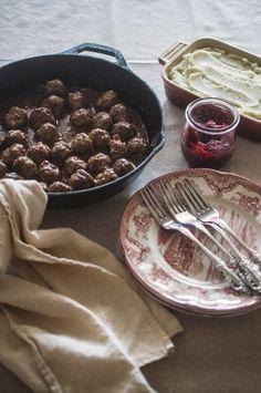 Swedish Meatballs & Gravy with Cranberry Jam (Paleo with AIP adaptation)
