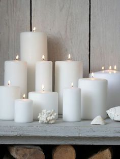 Made in Sweden, these stylish long burning, pure white pillar candles are one of our bestsellers!