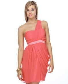 coral bridesmaid dress