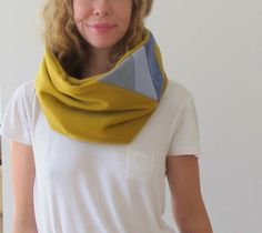 loop scarf with patchwork