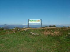 Panel interpretativo en el Mirador de Las Pedrices (Senda Perimetral, Las Médulas)