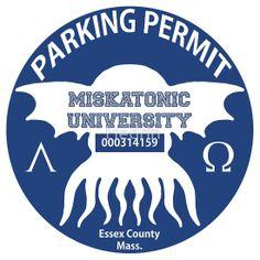 Miskatonic University Parking Permit