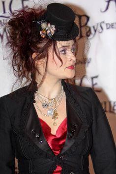 Helena Bonham Carters hat hairstyle