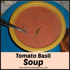 Delicious tomato soup, just replace regular butter with coconut butter or your choice of vegan butter
