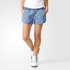 Super Soft Denim Shorts - Blue