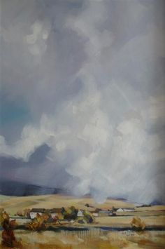 Moorland Mist rising a Lancashire painting by Lancshire artist Rob Miller