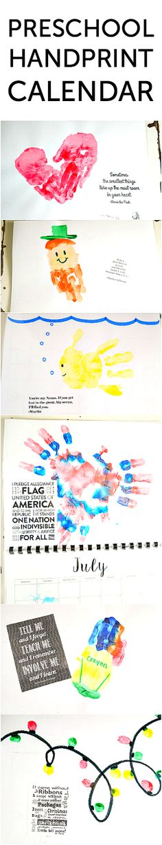 This handprint calendar for preschoolers is an easy craft that can be made with stuff most parents already have at home. Laminate it at an office store and give it as a gift!