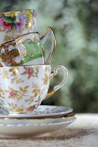 Pretty antique cups from Food from the heart. Courtesy of Lapa Publishers, photo by Adriaan Vorster South African Recipes, Tea Cups, Antique, Heart, Tableware, Pretty, Food, Dinnerware, Tablewares