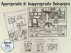 Need to work on good/bad choices with students? Use these scenes and cards to identify & discuss behaviors!