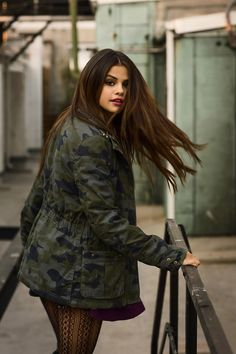 Here's a new photo of Selena Gomez from her 2014 fall/winter photo shoot for Adidas NEO line.