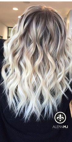 Brown Hair Shades, Blonde Hair Looks, Balayage Hair Blonde, Baylage Blonde, Platinum Blonde Hair, Ombre Hair Color, Hair Colors, Gorgeous Hair, Beautiful