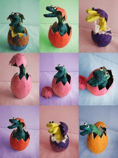 3d knutsel: dino Dino in ei