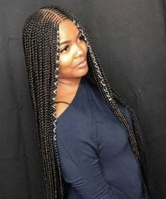 56 Dope Box Braids Hairstyles to Try - Hairstyles Trends Box Braids Hairstyles, African Hairstyles, Braided Hairstyles For Black Women Cornrows, African American Braided Hairstyles, African American Braids, Scene Hairstyles, Dance Hairstyles, Hairstyles 2018, Braid Styles