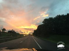 Sunset on I-77 South