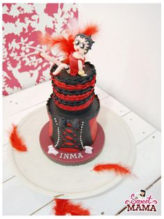 Burlesque Bachelorette Party Cake